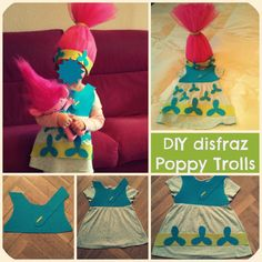 DIY disfraz de poppy trolls superfácil sin coser