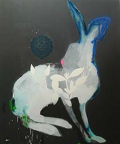 ♞ Artful Animals ♞ bird, dog, cat, fish, bunny and animal paintings - Miranda Scokzek