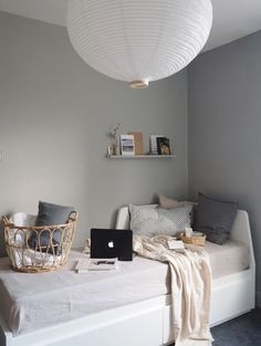 Small Space Living, Small Rooms, Small Bedroom Office, Office Ideas For Work, Ikea Bedroom Furniture, Ikea Daybed, Furniture Design, Small Workspace, Hm Home