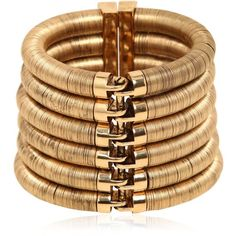 BALMAIN Gold Plated Brass Bracelet - Gold ($3,066) ❤ liked on Polyvore featuring jewelry, bracelets, accessories, balmain, gold, gold plated jewelry, yellow gold jewelry, gold jewelry, brass jewelry and gold jewellery