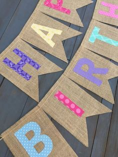 Reusable Rainbow Burlap Happy Birthday Banner First Birthday Party Decorations Pink Purple Teal Coral Blue Fabric Cake Smash Photo Prop Diy Birthday Banner, First Birthday Party Decorations, Diy Banner, Happy Birthday Banners, First Birthday Parties, First Birthdays, Ramadan Decorations, Kids Party Decorations, Party Themes
