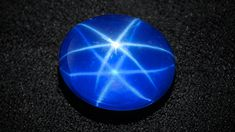 star synthetic sapphire cabochon