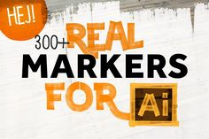 300+ REAL MARKERS FOR ILLUSTRATOR - Brushes