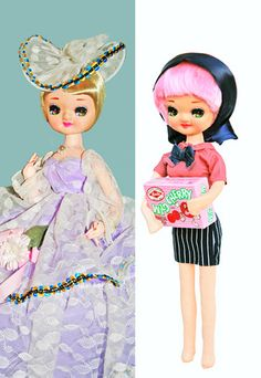 The one on the left is my least favorite pose doll but Boopsiedaisy did a wonderful job revamping her!