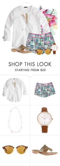 """""""I have way too many clothes"""" by flroasburn ❤ liked on Polyvore featuring J.Crew, Vineyard Vines, FOSSIL, Ray-Ban and Jack Rogers"""