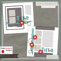 Torn 'n Adorned v.2 by keepscrappin designs: $1.50 @ www.browniescraps.com