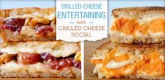 Entertaining with Grilled Cheese for National Grilled Cheese Month.