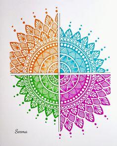 Mandala Art Therapy, Mandala Art Lesson, Mandala Artwork, Mandala Painting, Easy Mandala Drawing, Mandala Doodle, Doodle Art Drawing, Art Drawings Beautiful, Art Drawings Sketches Simple