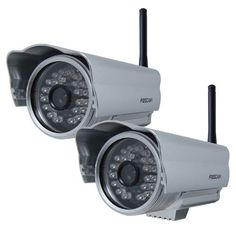 Foscam FI8904W Outdoor Wireless/Wired IP Camera with - 2 Pack by Foscam. $172.99. The Foscam FI8904W Wireless IP Camera features high quality video, waterproof and weather proof outdoor housing, remote internet viewing, motion detection, email notification, night-vision as well as a built in network video recording system. This camera has  24 IR LEDs providing night vision visibility up to 20 meters (65 ft.). It is smartphone compatible (iPhone, Android & Blackberry) as we...