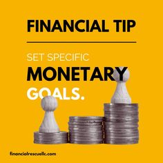 Be as specific as possible when it comes to setting money goals. The clearer you are with your goals, the more likely you'll know exactly how to win. Financial Tips, Financial Literacy, Finance, Things To Come, Goals, Money, Silver, Economics