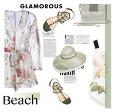 """Summer Date: The Beach"" by slavicabojanovic ❤ liked on Polyvore featuring Zimmermann, Whiting & Davis, Valentino, Chictopia, beach and summerdate"