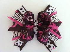 Cowgirls Rule Boutique Hair Bow by princessali03 on Etsy, $7.99