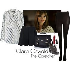 """""""Clara Oswald - The Caretaker"""" by ansleyclaire on Polyvore"""