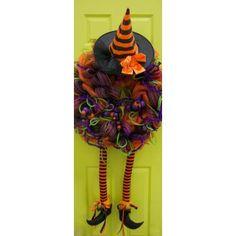 Wacky Wicked Witch Deco Mesh Wreath