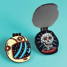 Melted Astronaut enamel pin by Killer Acid, edition of 250.  Comes with one pin and a mini comic on the card back, bazooka Joe style.  1.2 wide.…