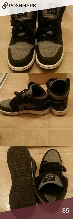 Nike Jordans US Size 5 , Euro Size 37.5 Used grey and black Nike Shoes Sneakers