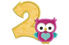 Number Embroidery Birthday Number Applique