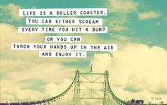 Life is a roller coaster .....