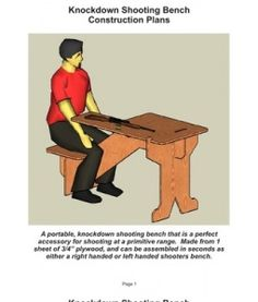 shooting bench plans from one sheet of plywood - Google Search