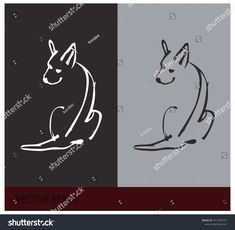 Outline sketch of the dog, can be used as a logo. EPS 10