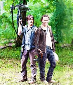 The Walking Dead season 4 Rick & Daryl