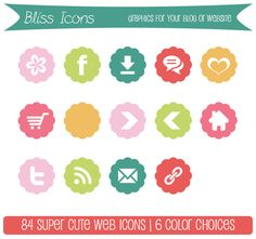 Website & Blog Graphic Icons - BLISS ICONS