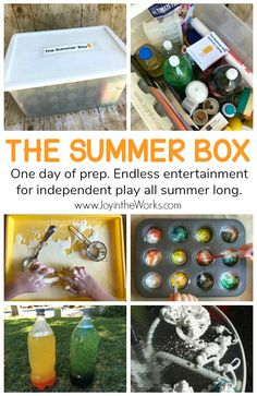 Bored kids this summer? Teach them how to entertain themselves this summer with a Summer Box full of supplies and activities for independent play! The Summer Box is the answer for bored kids as it guides them with simple instructions on 30 different activity cards and a box full of the corresponding supplies. Even better? They will be learning as they play! Cards are full of science experiments, STEM Challenges, art projects, math games and more! #STEMbox #stem #summer #summerbox #summerslide