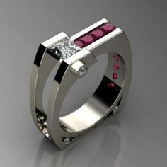 Details about 925 Silver Chic Women Ruby White Topaz Ring Wedding Lady Jewelry Party Size Ruby Jewelry, Jewelry Rings, Fine Jewelry, Jewellery, Diamond Jewelry, Silver Jewelry, Jewelry Watches, Jewelry Party, Wedding Jewelry
