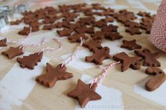 Apple Cinnamon Ornaments.  We made these in the girl scouts once.  They were fun and fragrant for Christmas.