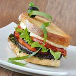 Grilled Eggplant & Portabello Sandwich
