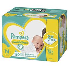 Pampers Swaddlers Disposable Baby Diapers, Newborn - 120 Count (Giant Pack) for sale online One Month Baby, Newborn Diapers, Diaper Babies, Diaper Sizes, Disposable Diapers, Baby Skin, Free Baby Stuff, Baby Registry, Baby Care