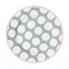 Porcelán kistányér Aura grey