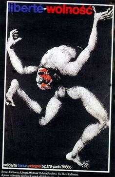 Roman Cieslewicz: Liberté- Wolnosc, 1981.