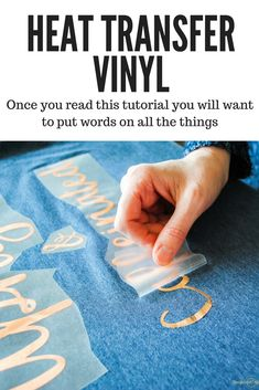 Easy Heat Transfer Vinyl Tutorial - Cricut T Shirts - Ideas of Cricut T Shirts - This tutorial will teach you all the tips and tricks to use heat transfer vinyl (HTV) also called iron on vinyl. You will want to put words and graphics on all the things! Cricut Heat Transfer Vinyl, Cricut Iron On Vinyl, Cricut Air 2, Cricut Htv, Iron On Transfer, Transfer Paper, Inkscape Tutorials, Cricut Tutorials, Diy Organisation