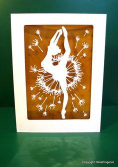 Template, COMMERCIAL, SVG, Ballet, Dancer, Card, Cards, Papercut Template, Paper Cut Template, Papercutting Template, Papercutting, DIY Gift