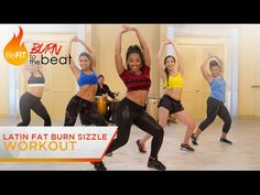 Latin Fat Burn Sizzle Workout: Burn to the Beat- Keaira LaShae is a sultry, slimming Latin cardio dance workout that uses Salsa-inspired dance move. Dance Workout Videos, Cardio Dance, Dance Exercise, Zumba Videos, Dance Videos, Dance Moves, Video Sport, Youtube Workout, Health Fitness