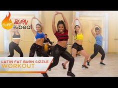 Latin Fat Burn Sizzle Workout: Burn to the Beat- Keaira LaShae - YouTube