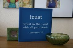 """Trust"" Proverbs 3:5 Canvas on SonGear.com - Christian Shirts, Jewelry"