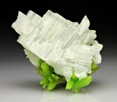 `.Cerussite with Pyromorphite. I wouldn't have Imagined this Colour and Texture combination in Nature.