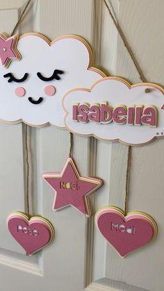 Baby Shower Decorations, Birthday Decorations, Decoration Party, Birthday Crafts, Baby Room Decor, Nursery Decor, Girl Nursery, Diy Resin Crafts, Paper Crafts
