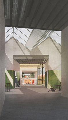 Inner Fringe by Chiara Barrett Architecture Panel, Architecture Portfolio, Architecture Visualization, Architecture Graphics, Light In Architecture, School Architecture, Interior Architecture, Collage, Presentation Styles