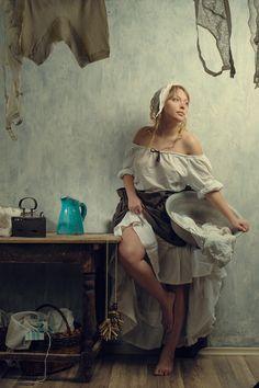 Lundress (by Kiyasov Anton) Arte Obscura, Fine Art, Art Model, Portrait Art, Beautiful Paintings, Figure Painting, Erotic Art, Female Art, Art Pictures
