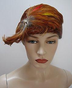 "1920s LADIES 22"" FLAPPER HAT,"