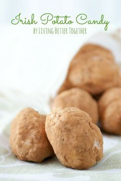 Irish Potato Candy - A perfect and easy dessert for St. Patrick's Day!