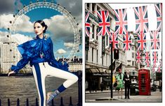 Bonnie Chen Tours London in Style for Harpers Bazaar China July 2012, Shot by Zack Zhang