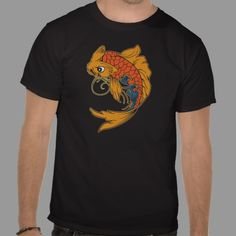 Koi - Japanese Carp Ornamental Fish T Shirt - Inspiration Good Luck