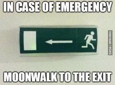 In case of emergency. You had one job.