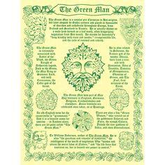 The Green Man A4 Pagan Poster