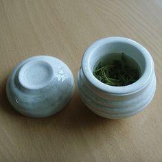 Single serve green tea teacup set / Made in Korea White / Hand made  teacup   !! #MadeinKoreaHandmade