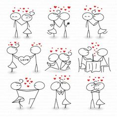 Stick Figure Clipart Clip Art Love Stick People Couple Clipart Clip Instant Download Art Commercial & Personal Use Valentine's day di TeoldDesign su Etsy https://www.etsy.com/it/listing/252911525/stick-figure-clipart-clip-art-love-stick